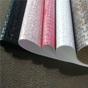 PU Digital Printing Fabric Leather for Shoes pictures & photos