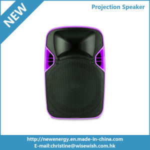 12 Inches PA System Loudspeaker LED Projection Speaker with Projector pictures & photos