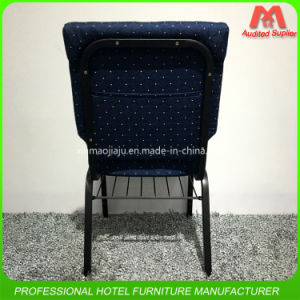 Popular Style Hot Sale Steel Church Chair with Bible Rack pictures & photos