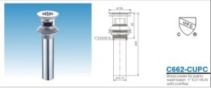 Wash Basin Chrome Plating Drainer with Cupc pictures & photos