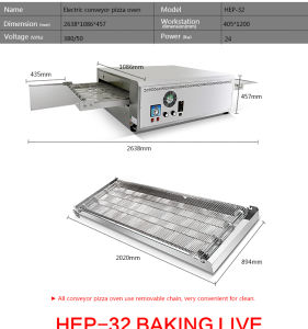Commercial Stainless Steel Electric Conveyor Pizza Oven pictures & photos