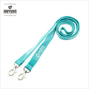 Silk Screen Printing Tube Polyester Lanyard with Double Hooks pictures & photos