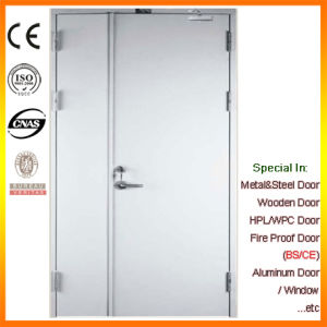 Flush Fire Steel Door with Fireproof Vision Glass pictures & photos