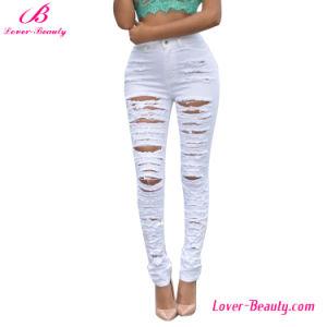 Hexin Wholesale Hollow out Denim Jeans Pants Leggings pictures & photos