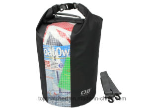 Promotional Swimming Diving 30L Waterproof Barrel Backpack Dry Bag with Window pictures & photos