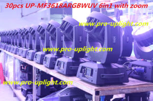 LED Stage Lighting 36PCS *18W Rgbwauv 6in1 LED Moving Head Light pictures & photos