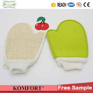 Sisal Softtextile Exfoliating Back Scrubber Mitt Bath Shower Glove (KLB-110) pictures & photos