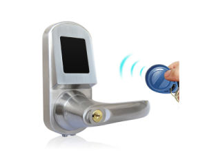 RFID Card Door Lock with Mobile Phone, Card, Mechanical Key (UL-300EM) pictures & photos