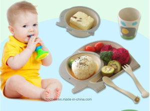 BPA Free Bamboo Fiber Tableware Kids Dinnerware Set (BC-BB-SU2008) pictures & photos