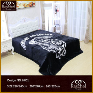 Blanket of 100% Polyester Korean Raschel Quality for Algeria Market