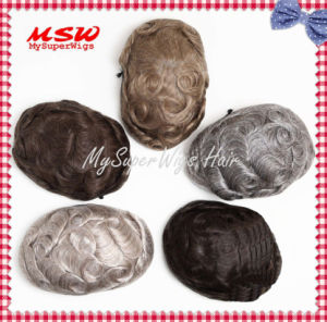 All Reinforced New York Lace (welded mono) Men′s Toupee pictures & photos