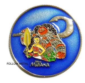 Souvenir Coin with Moana Logo and Transprant Color