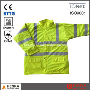 Men′s En343 3: 2 Safety PU Coated Reflective Jacket pictures & photos
