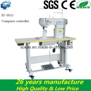 Computerized Flat Bed Roller Feed Lockstitch Industrial Sewing Machine pictures & photos