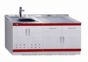 Dental Supply Stainless Steel Dental Cabinet Dental Furniture (LUK-07) pictures & photos