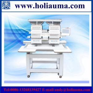 Double Heads Computerized Embroidery Machine China Embroidery Machine for Clothes Double Head Cap Industrial Price High Speed Sewing Machine pictures & photos