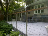Timber Handrail Stainless Steel Square Post Cable Balustrade System pictures & photos