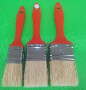 White Filaments Mix Bristle with Red Plastic Handle Painting Brush pictures & photos
