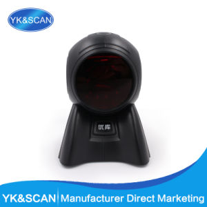 Desktop Omnidirectional Barcode Scanner Yk-8160 POS System Inventory with USB Interface pictures & photos