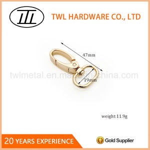 Thick Oval Handbags Use Metal Snap Hook for Bags pictures & photos
