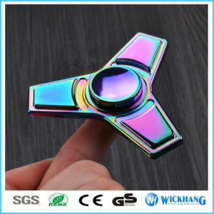 Aluminum Metal Tri Hand Finger Spinner Fidget EDC Desk Toy Gyro pictures & photos