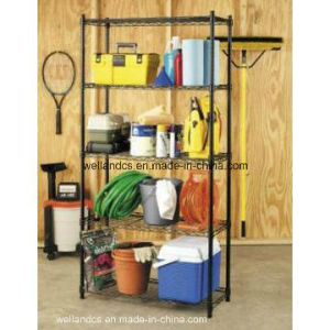 DIY Powder Coating Metal Wire Storage Rack Shelf for Home/Garage (LD12045180A4E) pictures & photos