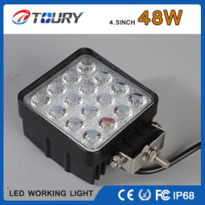 48W Square Offroad Auto LED Working Lamp Light pictures & photos