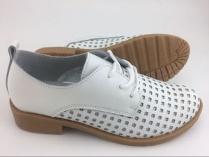 New Style Fashion Lady Leather Shoes British Style Shoes (FW-2) pictures & photos