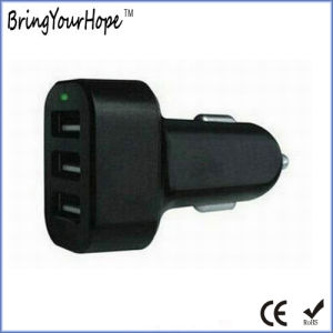 3 USB Ports 5V 5.1A Output USB Car Charger (XH-UC-021) pictures & photos