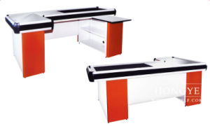 Stainless Steel Surface Shopping Mall Checkout Counter Cash Desk (OW-C006) pictures & photos