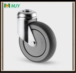 5 Inches Rubber Wheel Casters for Supermarket Shopping Trolley pictures & photos