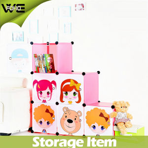 Free Standing Cartoon Design Multipurpose Foldable Kids Storage Box pictures & photos
