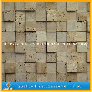 Natural Italy Beige Travertine Marble Mosaic for Bathroom Wall Tiles pictures & photos