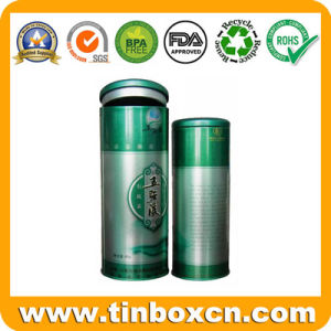 Round Food Packaging Box Metal Coffee Tin Container pictures & photos