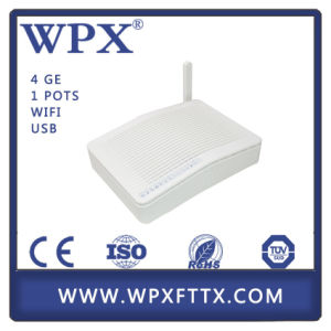 Wpx-Gu9124 Gpon Ont Epon ONU with 1ge 3fe 1VoIP WiFi FTTX pictures & photos