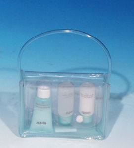 Custom Print Clear PVC Cosmetic Handle Bag pictures & photos
