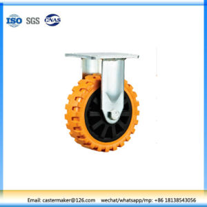 N820 Heavy Duty Fixed Type Orange PU Industrial Caster pictures & photos
