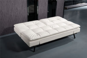 White PU Sofabed with All Metal Frame pictures & photos