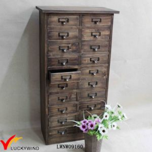 Retro Brown French Country Multi Drawer Wooden Cabinet pictures & photos