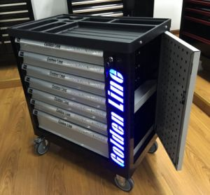 7 Drawer High Quality Tool Trolley/Cabinet/Toolbox with 220PCS Hand Tools pictures & photos