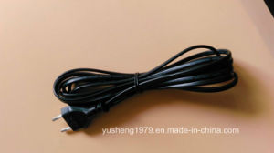 Power Cord Plug with Flat PVC Cable pictures & photos