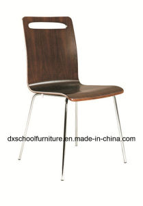Stainless Steel Curved Wooden Chair for Restaurant pictures & photos