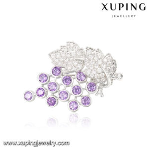 00038 Fashion Luxury Leaf Crystal Jewelry Brooch in Rhodium Color pictures & photos