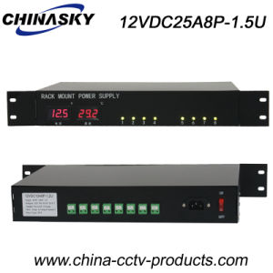25 AMP LED Display CCTV Rackmount Power Supply (12VDC25A8P-1.5U) pictures & photos
