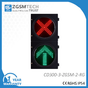 Driveway Arrow + Cross Signal Dia. 300mm