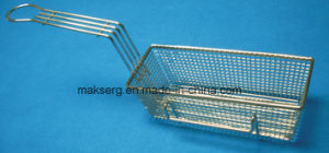 Rectangle Steel Fry Basket with Handle pictures & photos