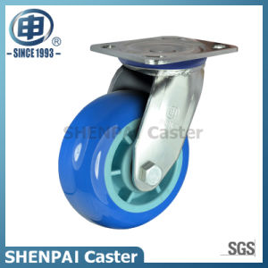 "5""Stainless Steel Bracket Swivel PU Caster Wheel pictures & photos"