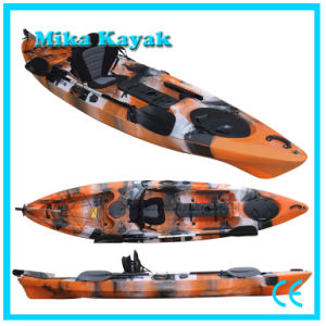 Sit on Top Sea Fishing Kayak with Pedals Sail Boat with Rudder System pictures & photos