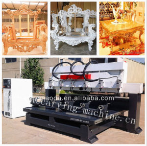 4 Axis CNC Router 8 Head / 4 Axis CNC Wood Engraving Machine pictures & photos