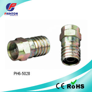 Rg59 RG6 Crimp F Connector for CATV pictures & photos